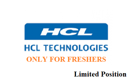 HCL Technologies Freshers Recruitment of Analyst