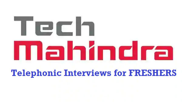 Tech Mahindra Hiring for FRESHERS || Apply Now